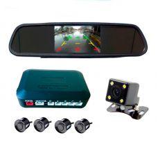 Парктроник-зеркало PZ604 с камерой заднего вида 4,3'