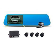 Парктроник-зеркало с видеорегистратором PZ621 с камерой заднего вида
