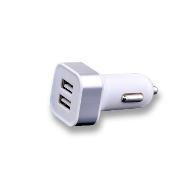 Автомобильное зарядное устройство на 2 USB, пластик, черный